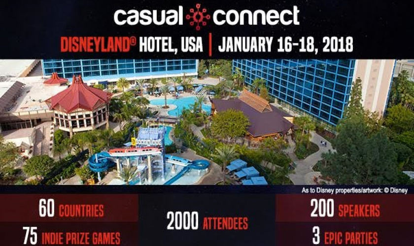 Casual Connect USA coming to California's Disneyland® Hotel this January