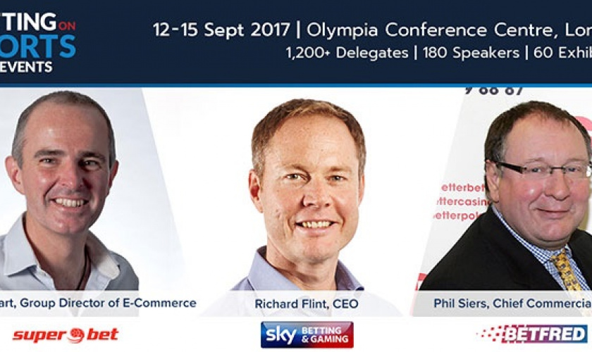 Strongest ever speaker lineup for next week's Betting on Sports