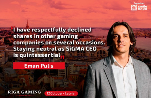 Eman Pulis gives an interview as SiGMA CEO